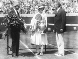 Helen Wills Holds the Trophy for Winning the National Women's Singles Championship Photo