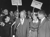 President and Mamie Eisenhower are Greeted by Vice President and Pat Nixon Photo
