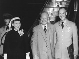 President Eisenhower's Family Departs for the Geneva Summit Conference Photo