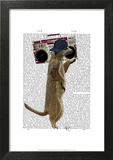 Meerkat with Boom Box Ghetto Blaster Print by  Fab Funky