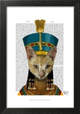 Egyptian Queen Cat Prints by  Fab Funky