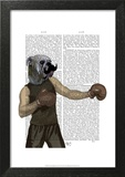 Boxing Bulldog Portrait Poster by  Fab Funky