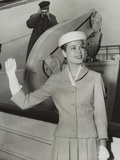 Grace Kelly Waves from the Ocean Liner Ss Constitution before Sailing for Monaco Photo