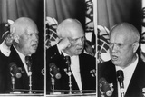 Nikita Khrushchev Gestures as He Reacts to L.A. Mayor Norris Poulson Remarks Photo