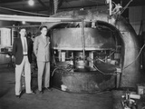 Stanley Livingston (Left) and Ernest Lawrence with the 27-Inch Cyclotron in 1934 Photo