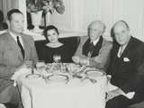 Architects Frank Lloyd Wright and Edward Stone Dining Out in New York City Photo