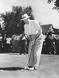 President Dwight Eisenhower on a Golf Course Putting Green Photo