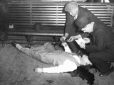 Gangster Jack Mcgurn Lying Dead in a Chicago Bowling Alley Photo