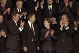 First Lady Laura Bush with Tom Ridge, Pm Tony Blair, and Nyc Mayor Rudy Giuliani Photo