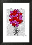 Valentine Heart Balloon Illustration Prints by  Fab Funky