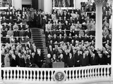 President Eisenhower Sworn in by Chief Justice Earl Warren Photo