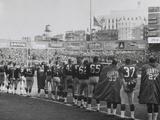 New York Giants Football Team During a Moment of Prayer for President John Kennedy Photo