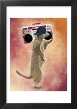 Meerkat and Boom Box Poster by  Fab Funky