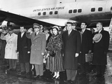 Shah of Iran and His Second Wife, Queen Soraya, Arrive at National Airport Photo