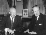 President Eisenhower with British Prime Minister Harold Macmillan in the Oval Office Photo