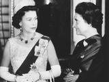 Queen Elizabeth with Indian Prime Minister Indira Gandhi at Buckingham Palace Photo