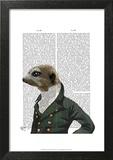 Dandy Meerkat Portrait Poster by  Fab Funky