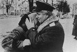 Nikita Khrushchev Comforting a Women During Ukraine's Liberation from Nazi's in 1943 Photo