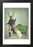 Mr Deer and Mrs Rabbit Art by  Fab Funky