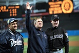 President George W. Bush Waves to the World Series Crowd at Yankee Stadium Photo