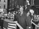 President Eisenhower Is Welcomed Back to Gettysburg on Nov Photo