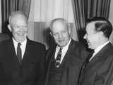 President Eisenhower with Labor Union Leaders George Meany and Walter Reuther Photo