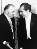 French President Georges Pompidou (Left) with President Richard Nixon, March 2, 1970 Photo