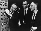 Ernest Lawrence, Glenn Seaborg, and Robert Oppenheimer at the Radiation Laboratory Photo
