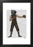 Boxing Bulldog Full Prints by  Fab Funky