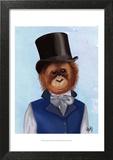 Orangutan in Top Hat Posters by  Fab Funky