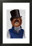 Orangutan in Top Hat Posters by  Fab Funky