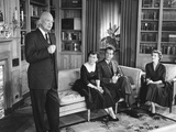 President Eisenhower Speaking on Election Eve, Nov. 5, 1956 Photo