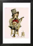 Banjo Bear Posters by  Fab Funky