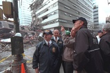 President George W. Bush Visits World Trade Center Ruins in New York, Sept. 14, 2001 Photo