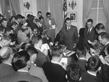 Vice President Richard Nixon with Reporters on Nov Photo