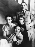 Irene and Frederic Joliot-Curie with their Children, Helene and Pierre, Nov. 1935 Photo