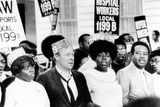 Walter Reuther and the Rev. Ralph Abernathy Marching with Striking Hospital Workers Photo