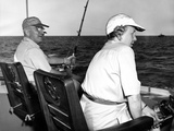 President Harry and Bess Truman Fishing Near Key West, Florida, Dec. 2, 1949 Photo