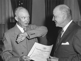 President Eisenhower Receives a Membership from National Rifle Association Pres Photo