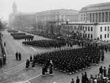 Cadets from the U.S. Navel Academy Marching in Eisenhower's Inaugural Parade Photo