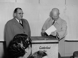 President Eisenhower Voting 1956 at the Cumberland County Election House Photo