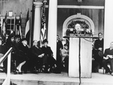 President Harry Truman Dedicated the Roosevelt Memorial Library, April 12, 1946 Photo