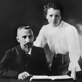 Pierre Curie and Marie Sklodowska Curie (1867-1934), C. 1903 Photo