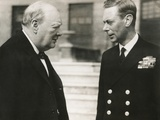 Winston Churchill with King George VI, May 8, 1948 Photo