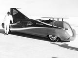 Art Arfons on the Bonneville Salt Flats with His 'Green Monster' Jet Car Photo
