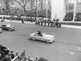 Vice President Richard Nixon Standing in an Open Car in the Inaugural Parade Photo