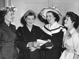 Pat Nixon and Mamie Eisenhower at the Cherry Blossom Fashion Show Photo