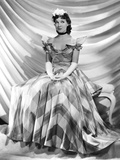 Jean Parker, Modeling a Taffeta Frock by Adrian, in Brown and Ivory Plaid, 1937 Photo
