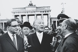 West German Chancellor Konrad Adenauer at Brandenburg Gate, Oct. 31, 1963 Photo