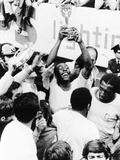 Pele in Triumph in Mexico City, June 21, 1970 Photo